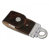 USB Flash Drive 8Gb Prestigio Leather Flash (brown)