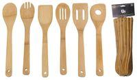 Набор кухонных инструментов бамбуковых (6 предметов)