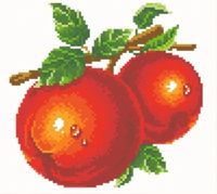 """Алмазная вышивка-мозаика """"Красные яблоки"""""""