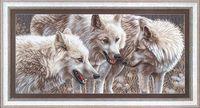 """Вышивка крестом """"Белые волки"""""""