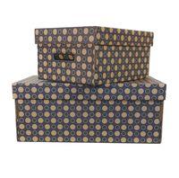 Набор коробок (2 шт.; темно-синий)