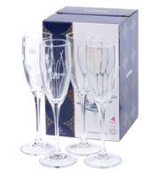 """Бокал для шампанского стеклянный """"Lounge Сlub"""" (4 шт.; 170 мл)"""
