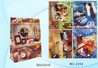 """Пакет бумажный подарочный """"Мужские часы"""" (в ассортименте; 26x32x10 см; арт. МС-2254)"""