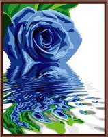 "Картина по номерам ""Голубая роза"" (400х500 мм)"