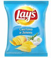 """Чипсы картофельные """"Lay's. Сметана и зелень"""" (150 г)"""