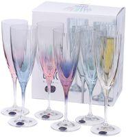 """Бокал для шампанского стеклянный """"Kate Optic"""" (6 шт.; 220 мл)"""