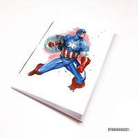 "Блокнот белый ""Капитан Америка"" А7 (221)"