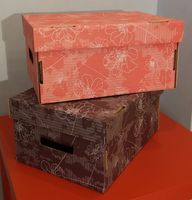 Набор коробок (2 шт.; красная и коричневая)