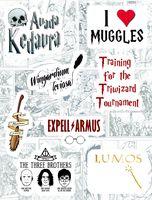 """Набор виниловых наклеек №187 """"Harry Potter"""""""