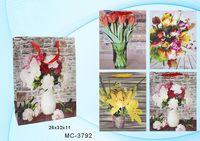 """Пакет бумажный подарочный """"Цветы"""" (в ассортименте; 26x32x11 см; арт. МС-3792)"""