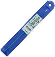 Крючок для вязания (синий; металл; 3.0 мм)
