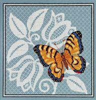 """Вышивка крестом """"Ажурная бабочка"""" (270х270 мм; арт. 1124)"""