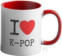 """Кружка """"Я люблю к-поп"""" (красная; арт. 3611)"""