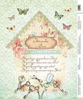 "Бумага для декупажа рисовая ""Молитва о доме 2"" (А4, арт. na4206)"