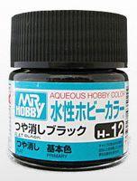 Краска Aqueous Hobby Color водоразбавляемая (flat black, H-12)