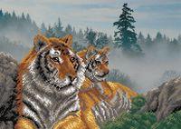 """Вышивка бисером """"Утро в тигровой пади"""" (280х390 мм)"""