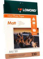 Фотобумага матовая односторонняя Lomond (50 листов; 230 г/м2; А4)