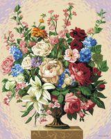 """Картина по номерам """"Цветочное изобилие"""" (500х400 мм)"""
