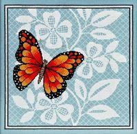 """Вышивка крестом """"Ажурная бабочка"""" (270х270 мм; арт. 1125)"""