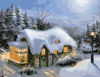 """Картина по номерам """"Зимний вечер"""" (400х500 мм)"""