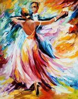 "Алмазная вышивка-мозаика ""Танец красок"" (380х480 мм)"