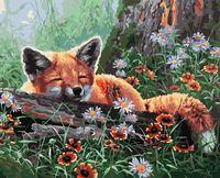 "Картина по номерам ""Лисенок в лесу"" (400х500 мм)"