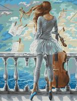 "Картина по номерам ""Море и виолончель"" (400х500 мм)"