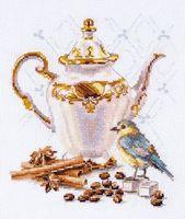 """Вышивка крестом """"Ценитель кофе"""" (150х180 мм)"""