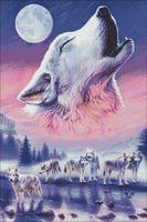 """Алмазная вышивка-мозаика """"Волки"""" (500х750 мм)"""