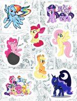 "Набор виниловых наклеек №191 ""My Little Pony"""
