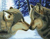 "Вышивка крестом ""Два волка"" (375x475 мм)"