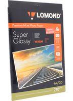 Фотобумага суперглянцевая односторонняя Lomond (20 листов; 270 г/м2; А4)