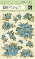 """Стикеры для скрапбукинга """"Голубые цветы. Мир растений"""""""