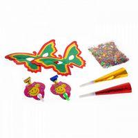 Набор карнавальный (2 маски, конфетти, 2 дудки, 2 язычка)