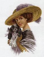 """Вышивка крестом """"Дама с собачкой"""""""