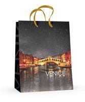 """Пакет бумажный подарочный """"Венеция"""" (17,8x22,5x10,2 см)"""