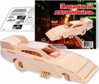 """Сборная деревянная модель """"Забавный автомобиль"""""""
