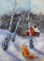 """Картина из шерсти """"Соседи"""" (арт. 902592)"""