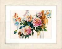 "Вышивка крестом ""Букет розовых роз"" (350х260 мм)"