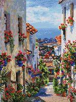 """Алмазная вышивка-мозаика """"Испания. Михас"""" (300х400 мм)"""