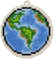 "Алмазная вышивка-мозаика ""Брелок. Планета Земля"" (83х90 мм)"