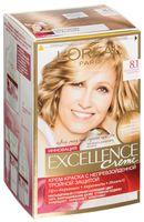 """Крем-краска для волос """"Excellence"""" (тон: 8.1, светло-русый пепельный)"""