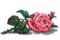"""Вышивка крестом """"Роза"""" (90x220 мм)"""