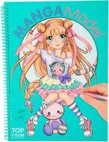 """Раскраска """"TopModel. Manga Model"""" (с наклейками; арт. 048516)"""