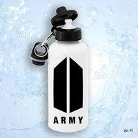 """Бутылка для воды """"BTS. Army"""" (600 мл; арт. 045)"""