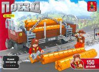 """Конструктор """"Поезд. Платформа для перевозки леса"""" (150 деталей)"""