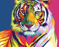 "Картина по номерам ""Ваю Ромдони. Радужный тигр"" (400х500 мм)"