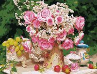 """Картина по номерам """"Чайные розы"""" (500x650 мм; арт. MMC008)"""