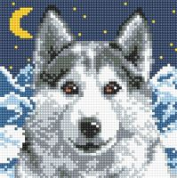 "Алмазная вышивка-мозаика ""Волк"" (200х200 мм)"