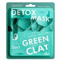 "Тканевая маска-эмульсия для лица ""Зелёная глина. 5 в 1"" (25 мл)"